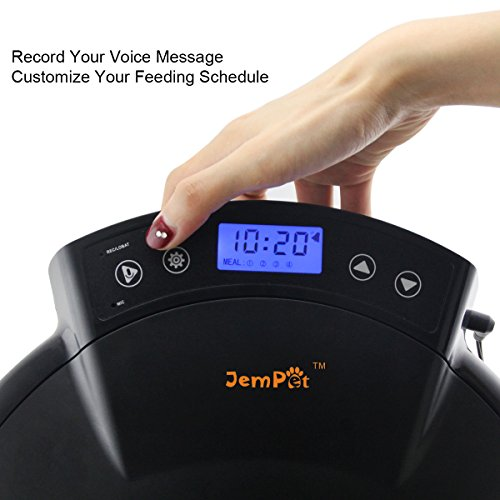 JEMPET-Automatic-Pet-Feeder-Cats-Dogs-5-Meal-Trays-Dry-Wet-Food-Auto-Pet-Food-Dispenser-Programmed-Timer-Voice-Recording-Function-5-x-240ml-0-0