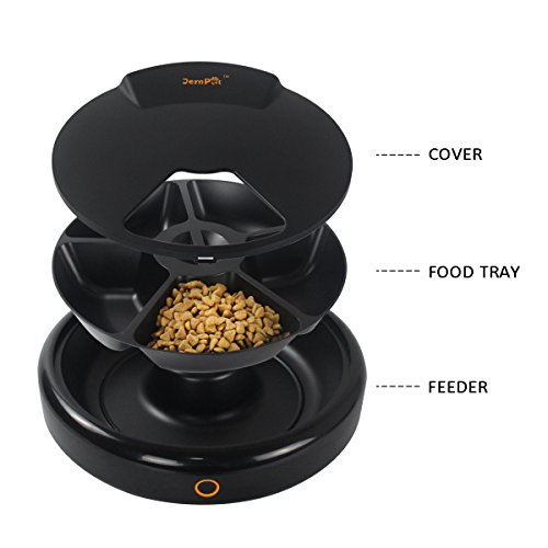 JEMPET-Automatic-Pet-Feeder-Cats-Dogs-5-Meal-Trays-Dry-Wet-Food-Auto-Pet-Food-Dispenser-Programmed-Timer-Voice-Recording-Function-5-x-240ml-0-2