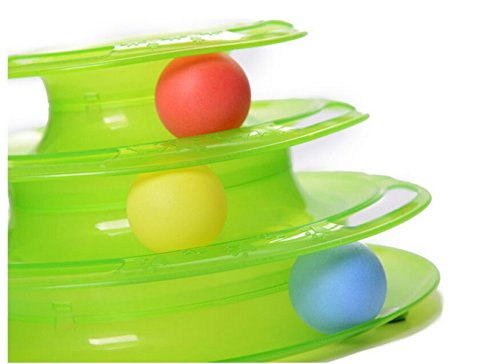 JUMUU-Cat-Kitty-Interactive-Three-Levers-Pet-Toy-Amusement-Plate-Crazy-Ball-Disk-Cat-Scratching-Ball-Toy-0-0