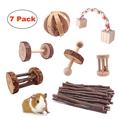 JanYoo-Guinea-Pig-Toys-Chinchilla-Hamster-Roller-Rat-Chews-Toys-Bunny-Rabbits-Bird-Exercise-Molar-Wooden-for-TeethPack-of-7-0