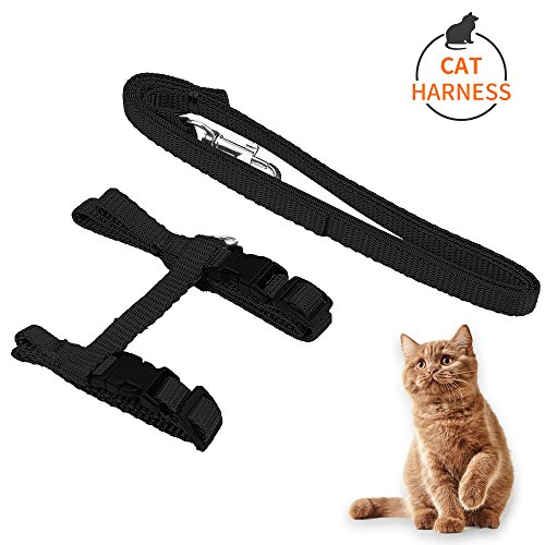 KAOSITONG-Cat-Harness-Adjustable-Harness-Nylon-Strap-Collar-with-Leash-Cat-Leash-and-Harness-Set-for-Cat-and-Small-Pet-Walking-0
