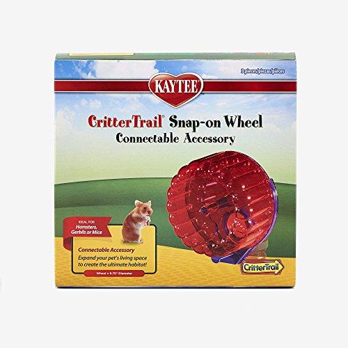 Kaytee-CritterTrail-Snap-On-Comfort-Wheel-Colors-Vary-0-0