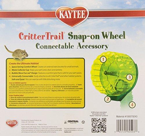 Kaytee-CritterTrail-Snap-On-Comfort-Wheel-Colors-Vary-0-1