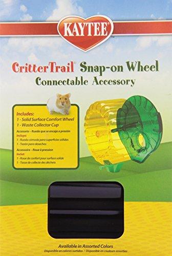 Kaytee-CritterTrail-Snap-On-Comfort-Wheel-Colors-Vary-0-2