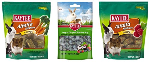 Kaytee-Small-Animal-Treats-3-Flavor-Variety-Bundle-1-Each-Berry-Alfalpha-Nibblers-Yogurt-Dipped-Timothy-Hay-Carrot-Alfalpha-Nibblers-25-5-Ounces-0