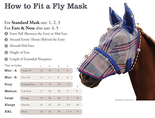 Kensington-Fly-Mask-Fleece-Trim-for-Horses-Protects-Face-Eyes-from-Flies-UV-Rays-while-Allowing-Full-Visibility-Breathable-Non-Heat-Transferring-Perfect-Year-RoundX-Large-Lavender-Mint-Plaid-0-1