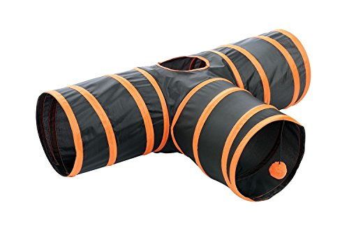 Kitty-Fun-Tunnel-CollapsiblePortable-3-way-Cat-Tunnel-with-Hanging-Ball-for-Cats-Kittens-Rabbits-0