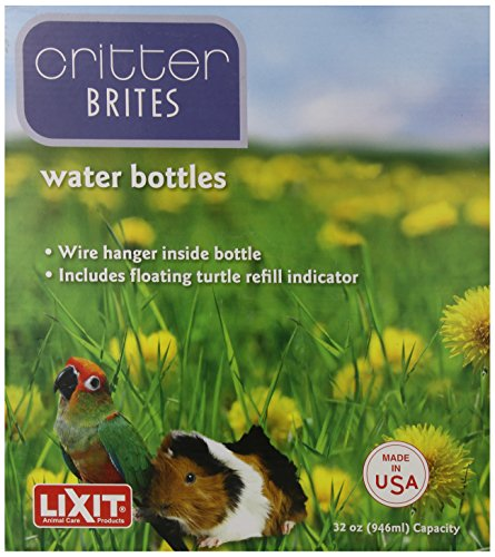 Lixit-Corporation-SLX0537-6-Pack-Critter-Brites-Small-Animal-Water-Bottles-32-Ounce-Day-Glow-0-1
