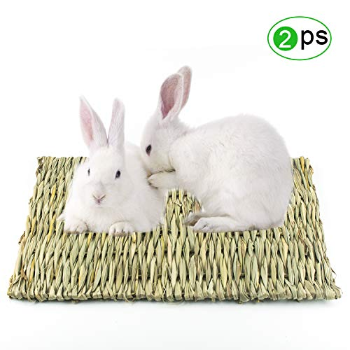 Lmlly-Rabbit-Grass-Mat-Natural-Hay-Woven-Chew-Toy-Resting-Pad-for-Gerbils-Bunny-Hamster-Chinchillas-Guinea-Pigs-Ferret-Small-Animals-0