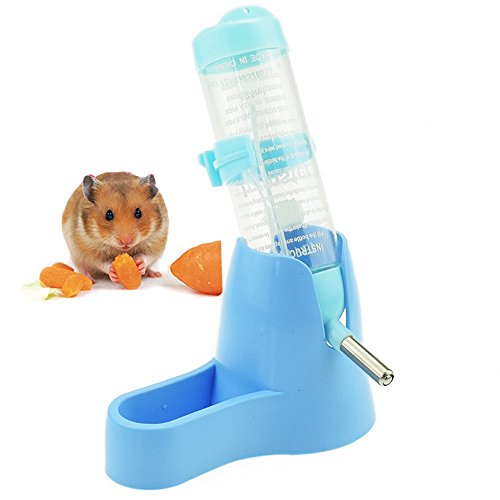 Lonni-Hamster-Water-Bottle-125-ML-Small-Animal-Water-Bottle-Water-Auto-Dispenser-with-Food-Container-Base-for-Hamsters-Rabbit-Gerbil-0