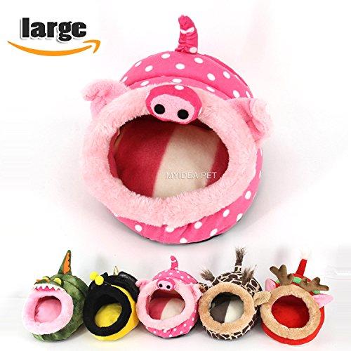 MYIDEA-Warm-Guinea-Pigs-BedHedgehog-Winter-NestRat-Chinchillas-Small-pet-Animals-BedCubeHouse-Habitat-Lightweight-Durable-Portable-Cushion-Big-Mat-0-2