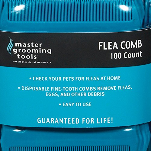 Master-Grooming-Tools-Flea-Comb-Canisters–Effective-Flea-Combs-for-Grooming-Dogs-100-Count-Canister-0-1