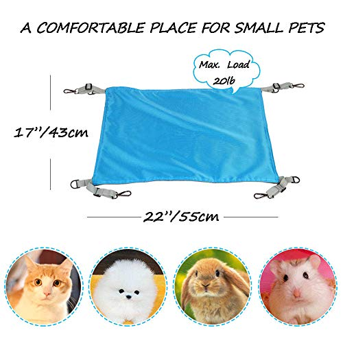 Metacrafter-Pet-Hammock-Hamster-Hanging-Toy-Small-Pet-Pad-Bed-for-Guinea-PigChinchillaKittenCatFerretMiceRabbitSquirrel-Playing-Cozy-Spot-Waterproof-Reversible-2-Sides-Use-with-Crate-or-Cage-0-2