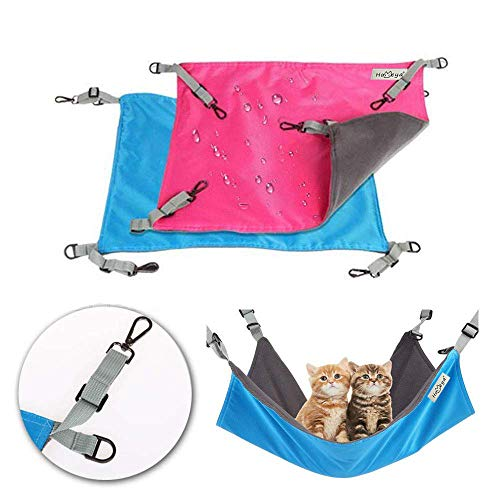 Metacrafter-Pet-Hammock-Hamster-Hanging-Toy-Small-Pet-Pad-Bed-for-Guinea-PigChinchillaKittenCatFerretMiceRabbitSquirrel-Playing-Cozy-Spot-Waterproof-Reversible-2-Sides-Use-with-Crate-or-Cage-0