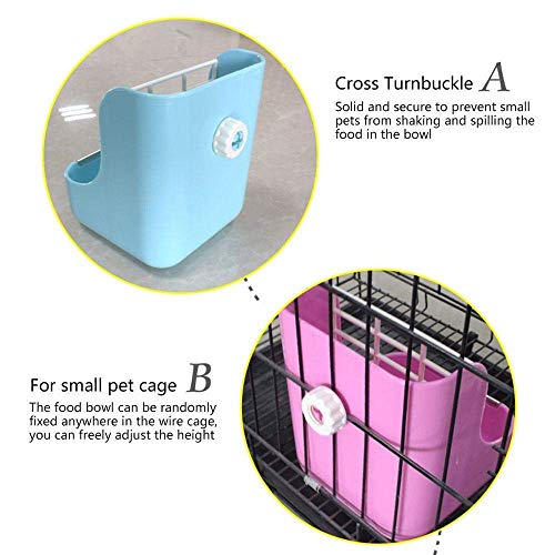 Misyue-Hay-for-Bunnies-Small-Animal-Supplies-Plastic-Pet-RabbitChinchillas-2-in-1-Feeder-Bowls-Double-use-for-GrassFood-0-2