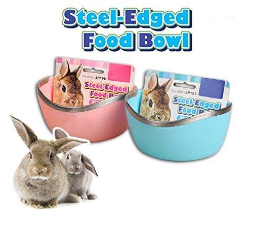 Mkono-Plastic-Cage-Feeder-Food-n-Water-Hay-Bowl-Dish-for-Rabbit-Guinea-Pig-Chinchilla-Hamster-Ferret-Random-Color-0-0