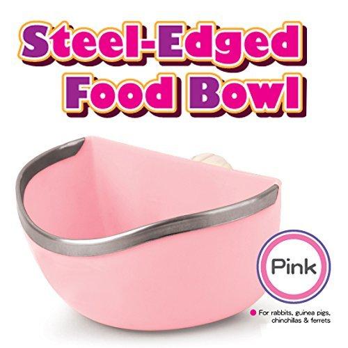 Mkono-Plastic-Cage-Feeder-Food-n-Water-Hay-Bowl-Dish-for-Rabbit-Guinea-Pig-Chinchilla-Hamster-Ferret-Random-Color-0-2