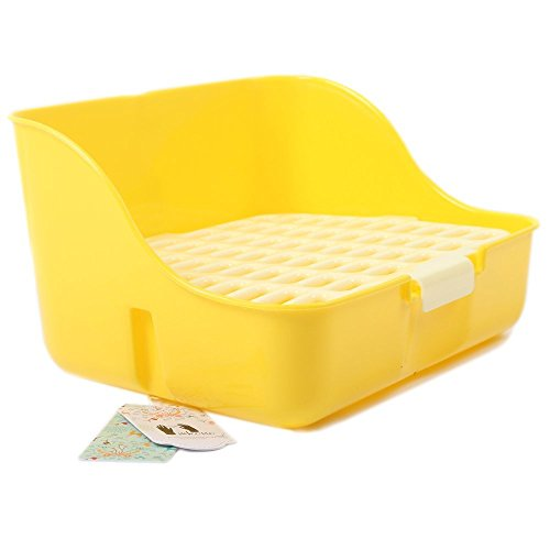 Mkono-Rabbit-Cage-Litter-Box-Potty-Trainer-for-Adult-Guinea-Pig-Ferret-Small-Animals-11-Inches-Random-Color-0-0