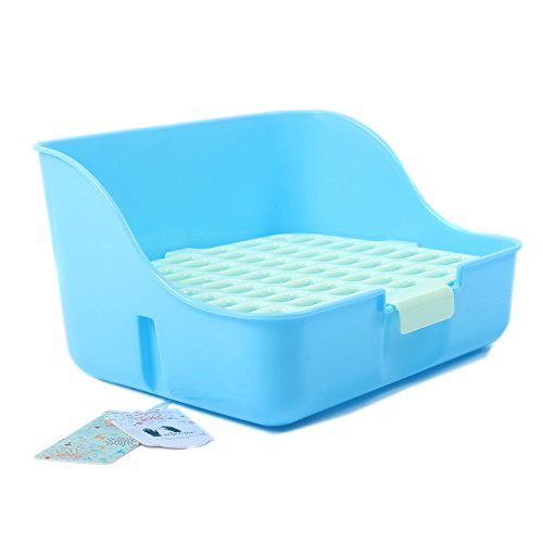 Mkono-Rabbit-Cage-Litter-Box-Potty-Trainer-for-Adult-Guinea-Pig-Ferret-Small-Animals-11-Inches-Random-Color-0-2