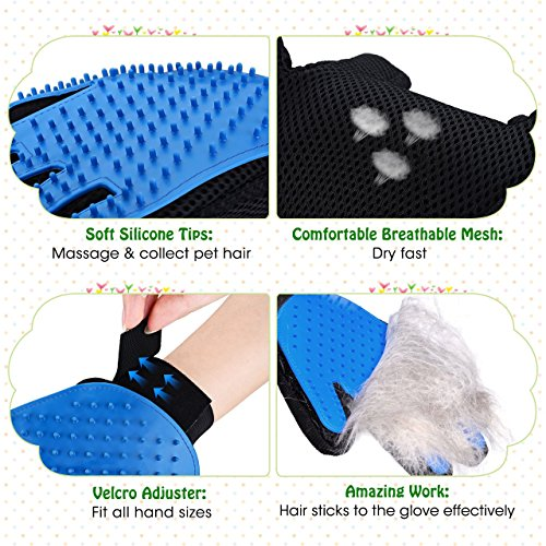 Mpow-Pet-Grooming-Glove-Efficient-Dog-Hair-Remover-Mitt-Cat-Gentle-Deshedding-Brush-Glove-Gentle-Massaging-Tool-with-Enhanced-Five-Finger-Design-Perfect-for-Pets-2-Pack-Right-Handed-Only-Blue-0-0