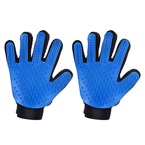 Mpow-Pet-Grooming-Glove-Efficient-Dog-Hair-Remover-Mitt-Cat-Gentle-Deshedding-Brush-Glove-Gentle-Massaging-Tool-with-Enhanced-Five-Finger-Design-Perfect-for-Pets-2-Pack-Right-Handed-Only-Blue-0