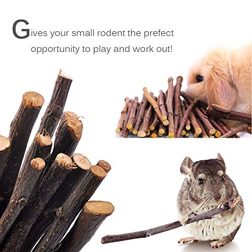 MyfatBOSS-Pack-of-6-Hamster-Chew-Toys-Natural-Apple-Sticks-Hamster-Ladder-Bridge-Unicycle-Dumbells-Exercise-Roller-Teeth-Care-Molar-Toy-for-Rabbits-Rat-Guinea-Pig-Chinchilla-and-Other-Small-Pets-0-2