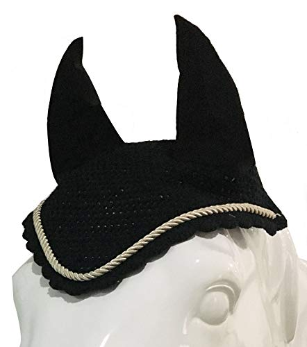 NEFTF-Fly-Bonnet-Horse-Crochet-Fly-Veil-Net-0