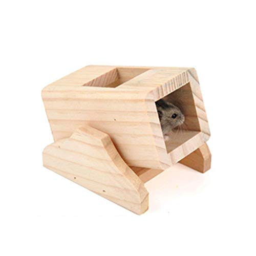 Naisidier-Dwarf-Hamster-House-Durable-Odorless-Non-Toxic-Deluxe-Two-Layers-Wooden-Hut-for-Hamster-Toys-0-0
