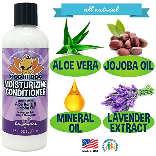 New-Natural-Moisturizing-Pet-Conditioner-Conditioning-for-Dogs-Cats-and-More-Soothing-Aloe-Vera-Jojoba-Oil-Vet-and-Pet-Approved-Treatment-Made-in-The-USA-1-Bottle-17oz-503ml-0-0