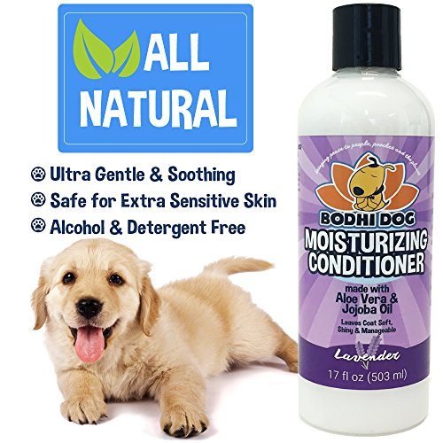 New-Natural-Moisturizing-Pet-Conditioner-Conditioning-for-Dogs-Cats-and-More-Soothing-Aloe-Vera-Jojoba-Oil-Vet-and-Pet-Approved-Treatment-Made-in-The-USA-1-Bottle-17oz-503ml-0-1