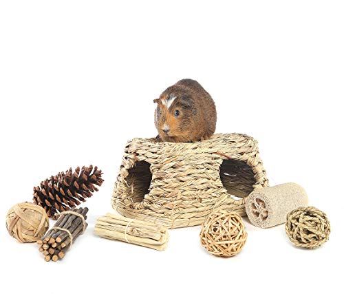 Niteangel-Natures-Hideaway-Grass-Hut-Play-Chew-Toys-Guinea-Pig-Rat-0