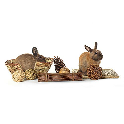 Niteangel-Woven-Grass-Small-Animal-Bed-Fun-Play-Toys-0-0