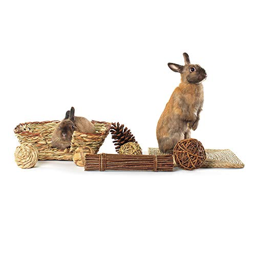 Niteangel-Woven-Grass-Small-Animal-Bed-Fun-Play-Toys-0-1