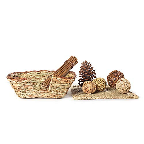 Niteangel-Woven-Grass-Small-Animal-Bed-Fun-Play-Toys-0