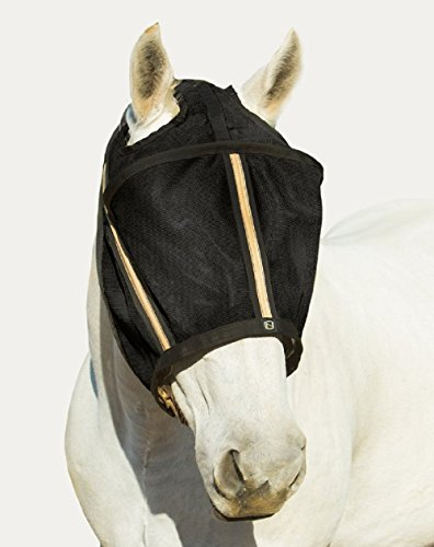 Noble-Outfitters-Guardsman-Fly-Mask-Protection-Black-Standard-Small-Horse-UVUPF-25-0