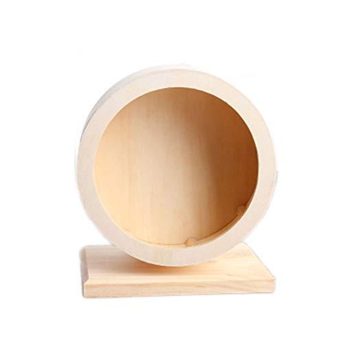 OMEM-Hamster-Exercise-WheelSmall-Animals-Running-Toy-Suitable-for-Rat-Pig-Chinchilla-Gerbil-etc-pet-Wooden-Harmless-Handmade-0