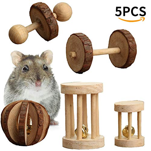 OSOPOLA-Hamster-Chew-Toys-Natural-Wooden-Teeth-Care-Molar-Toy-for-Cat-Rabbits-Rat-Guinea-Pig-Exercise-Playing-Chewing-5Pcs-0