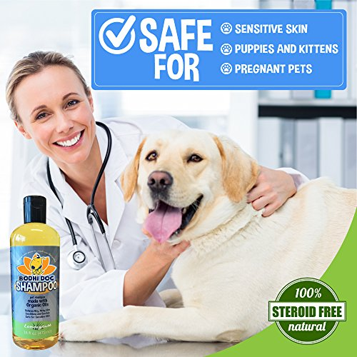 Organic-Dog-Shampoo-Soothing-All-Natural-Hypoallergenic-Pet-Shampoo-Dogs-Cats-Certified-to-USDA-Food-Standards-100-Non-Toxic-Made-in-USA-1-Bottle-16oz-473ml-0-0