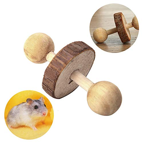 PIVBY-Wooden-Hamster-Chew-Toys-Teeth-Care-Molar-Ball-Exercise-Playing-Bell-Roller-Toy-for-Rabbits-Rat-Guinea-Pig-and-Other-Small-Pets-Pack-of-4-0-1