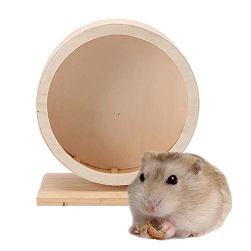 POPETPOP-Hamster-Wheel-Silent-Spinner-8-inchWooden-Spinner-Non-Slip-Run-Disc-for-Hamsters-Hedgehogs-Small-Pets-Exercise-Wheel-0-1