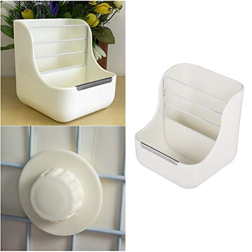 POPETPOP-Hay-Food-Bin-Feeder-Plastic-Pet-Rabbit-Chinchillas-2-in-1-Feeder-Bowls-Small-Animal-Feeding-Supplies-White-0-0
