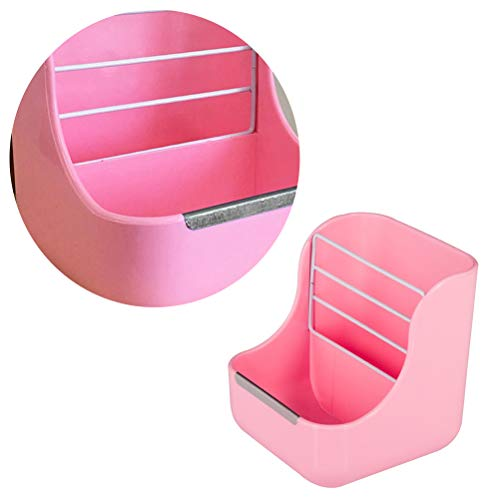 POPETPOP-Plastic-Pet-Rabbit-Chinchillas-2-in-1-Feeder-Bowls-Small-Animal-Supplies-Pink-0