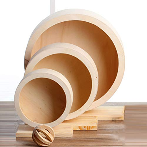 POPETPOP-Silent-Spinner-Exercise-Running-Wheel-Wooden-Comfort-Running-Wheel-Toy-for-Hamster-Mouse-Free-Standing-Size-S-0-1