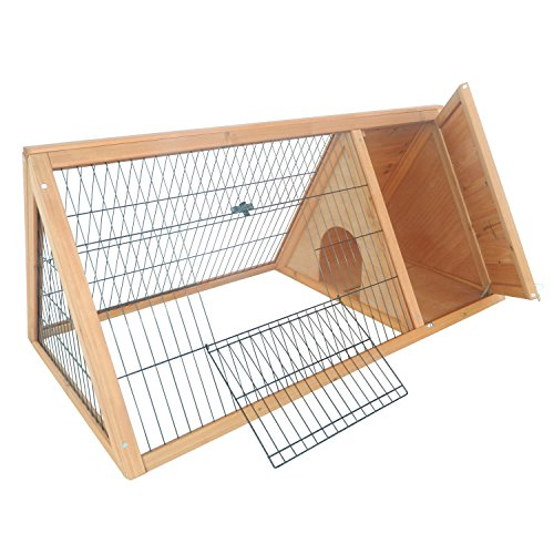 PawHut-46-x-24-Wooden-Portable-A-Frame-Outdoor-Rabbit-Cage-Small-Animal-Hutch-0-0