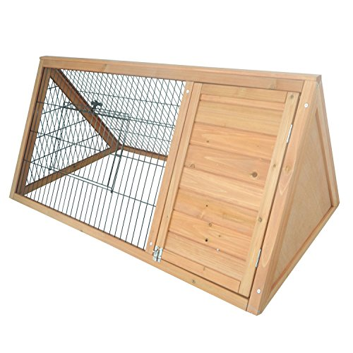 PawHut-46-x-24-Wooden-Portable-A-Frame-Outdoor-Rabbit-Cage-Small-Animal-Hutch-0-1