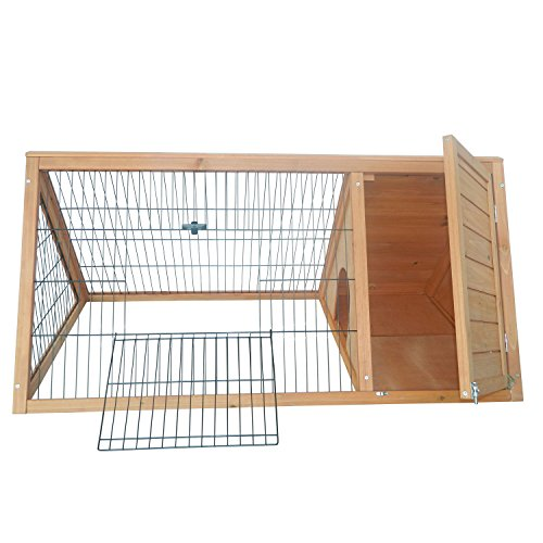 PawHut-46-x-24-Wooden-Portable-A-Frame-Outdoor-Rabbit-Cage-Small-Animal-Hutch-0-2