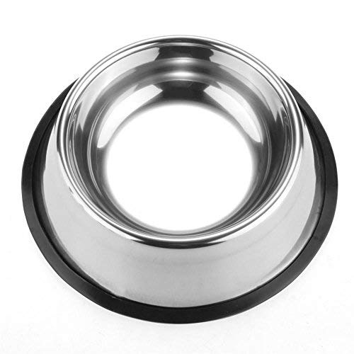 Pet-Bowls-for-Smaller-Dogs-Cats-Wipe-Clean-Stainless-Steel-Non-Skid-Bottom-for-Dogs-Puppies-Cats-Kittens-Rabbits-more-Set-of-2-0-0