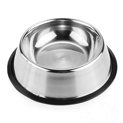 Pet-Bowls-for-Smaller-Dogs-Cats-Wipe-Clean-Stainless-Steel-Non-Skid-Bottom-for-Dogs-Puppies-Cats-Kittens-Rabbits-more-Set-of-2-0-1