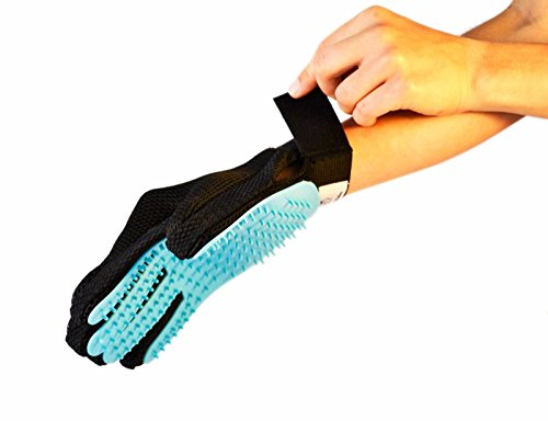 Pet-Grooming-Glove-Pair-By-Fuzzy-Whiskers-Gentle-Deshedding-Brush-Glove-Five-Finger-Design-Perfect-Hair-Remover-and-Massage-Tool-For-CatsDogsRabbitsHorses-with-Long-Short-Fur-0-0