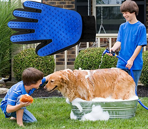 Pet-Grooming-Glove-and-Deshedding-Glove-Brush-Best-for-Dogs-Cats-Long-Short-Fur-Massage-Tool-with-Enhanced-Five-Finger-Design-0-2